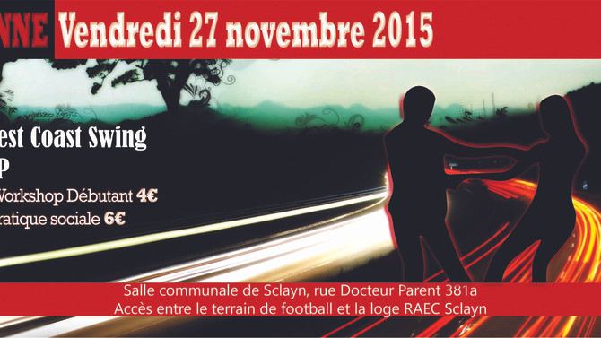 "27/11 : ""Speed'up"" ton West Coast Swing à Andenne"