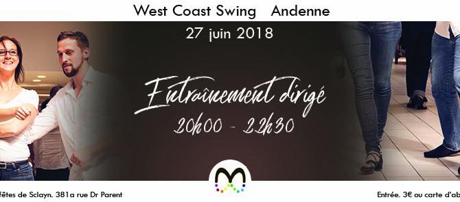 27/06 Entraînement de West Coast Swing à Andenne