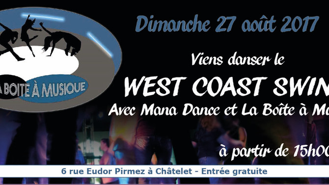 27/8 Viens danser le West Coast Swing à la Boîte à Musique (Châtelet)