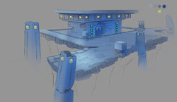 Pacman water environment sketch