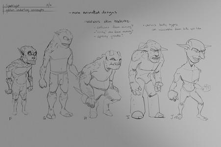 Creatures sketches