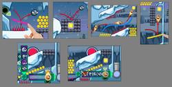 Mobile gameplay mockups