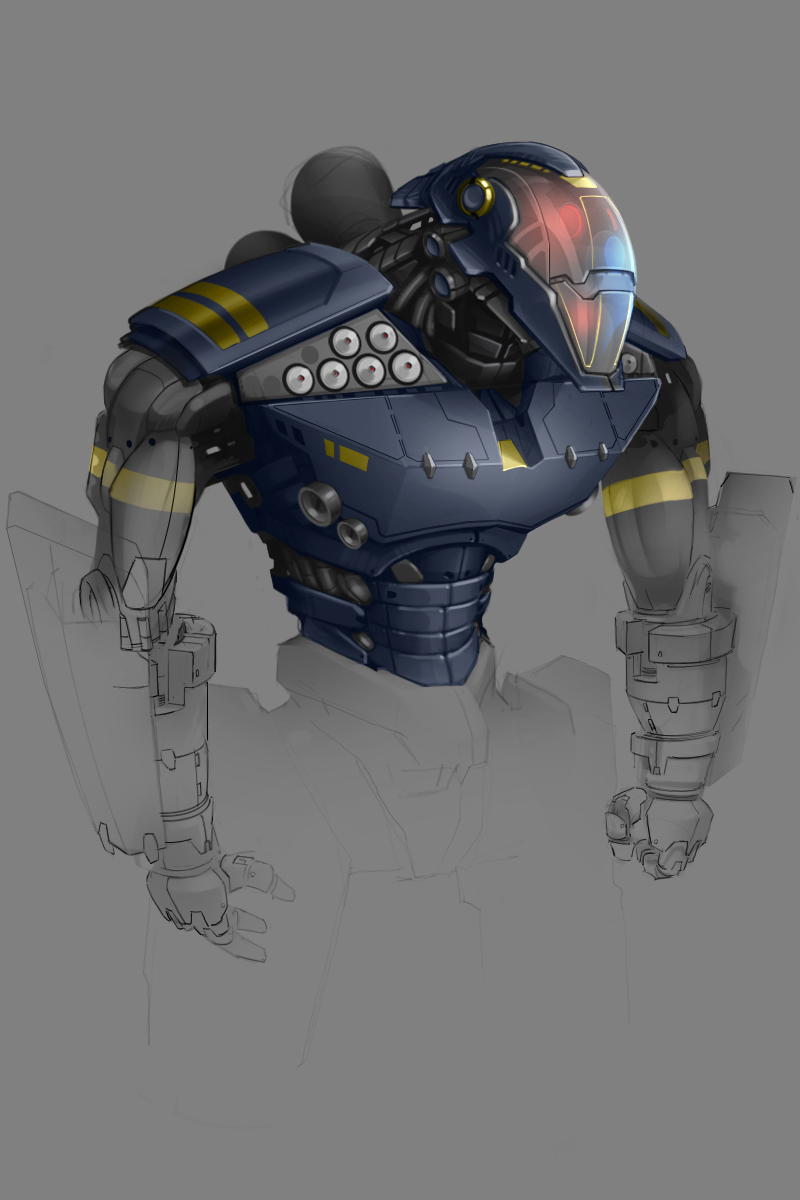 Future cop - heavy droid concept