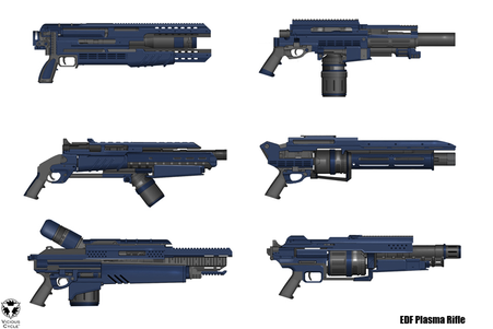 Weapons, energy rifles