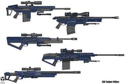 EDF sniper rifle concepts