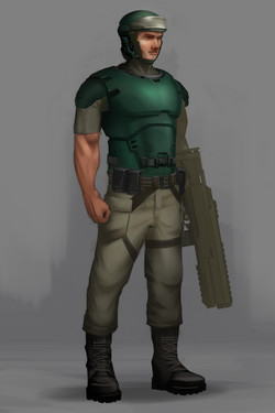 Marine character concept