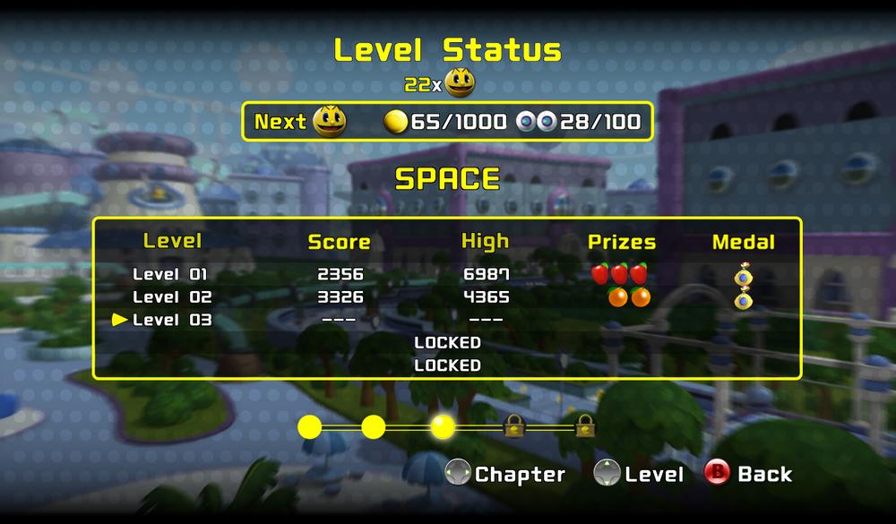 Pacman - Level complete UI