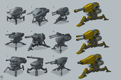 EDF turret concepts