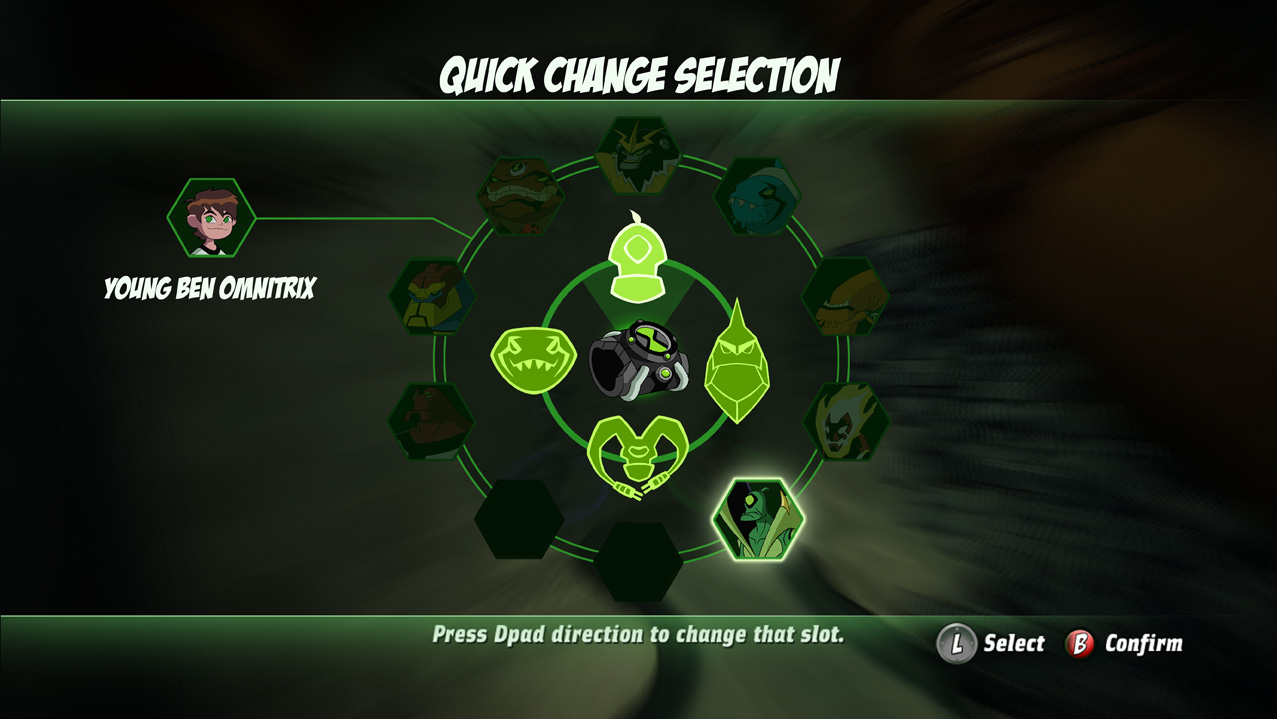 Ben10 Omni - Power selection