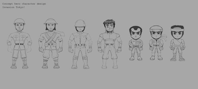 Hero sketches
