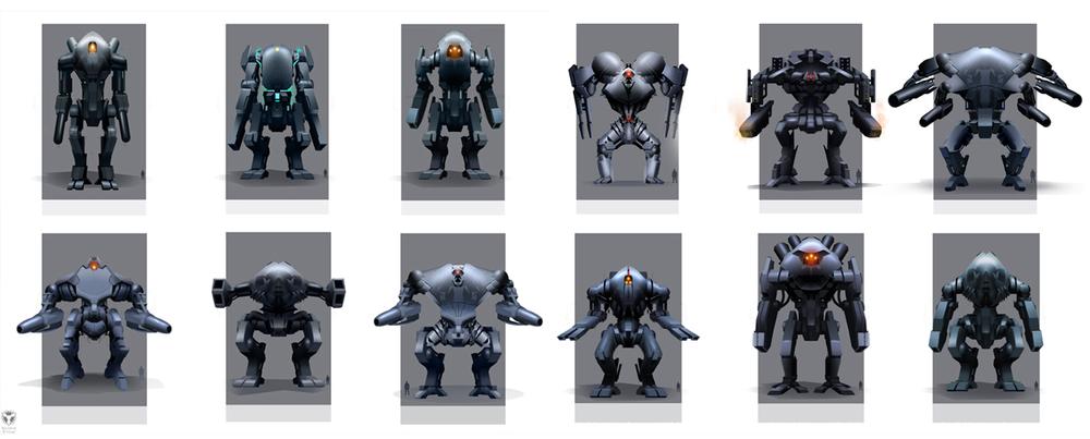 EDF - 'Hector' mini boss concepts