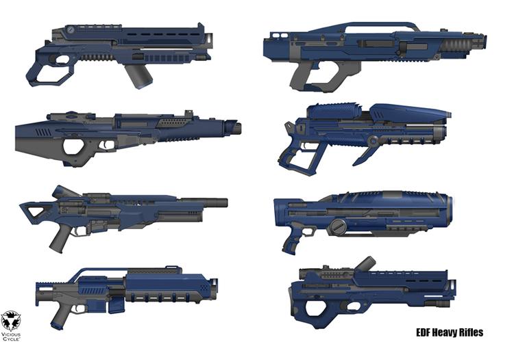 EDF energy rifle concepts