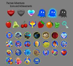 Pacman Icons, Achievements