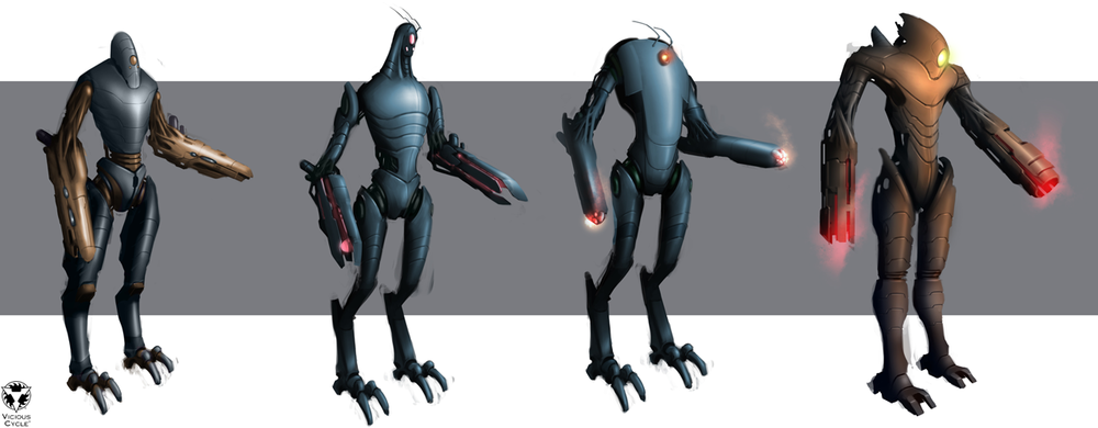 EDF - 'Hector' mini boss concepts