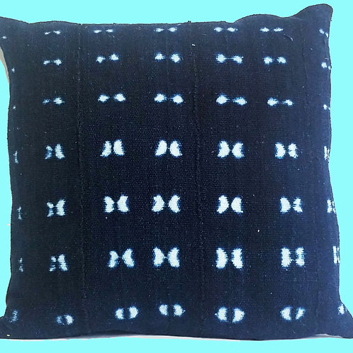 African Indigo Hand Dyed Pillow Cushion