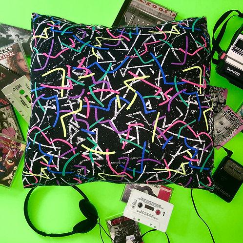 Neon Vintage 1980's Pillow Cushion