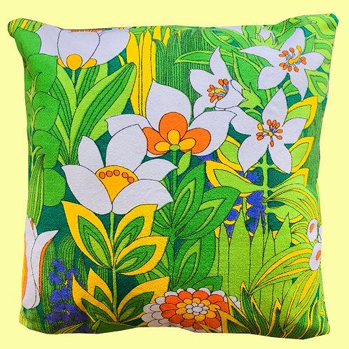 Vintage Barkcloth Pillow Cushion