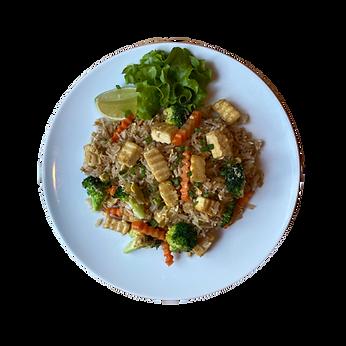 Fried Rice mit Tofu und Brokkoli