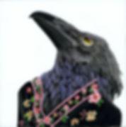 crow in kimono