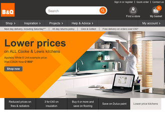 online retail web page