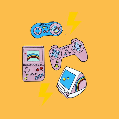 Nostalgia Gaming Enamel Pins