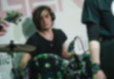 Кирилл Савва/Бродяга/Гаруда Федосеев – барабанщик Strange Melizma / Kirill Savva/Brodyaga/Garooda Fedoseev – drummer of the Strange Melizma rock-band
