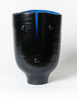 Large blue inside Idole vase