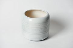 Cache-pot émail blanc
