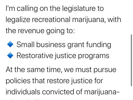 Gov. Tom Wolf Calls for Legalization August 2020