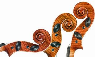 Violin scrolls