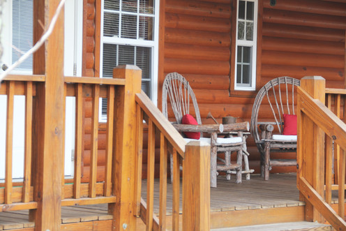 Porch of Cabin 123