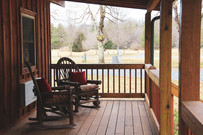 On the Porch of Cabin 128