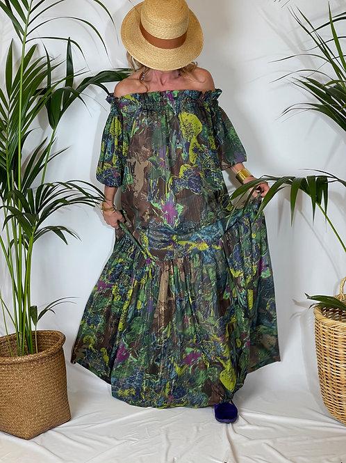 Alma Dress Green Fantasy