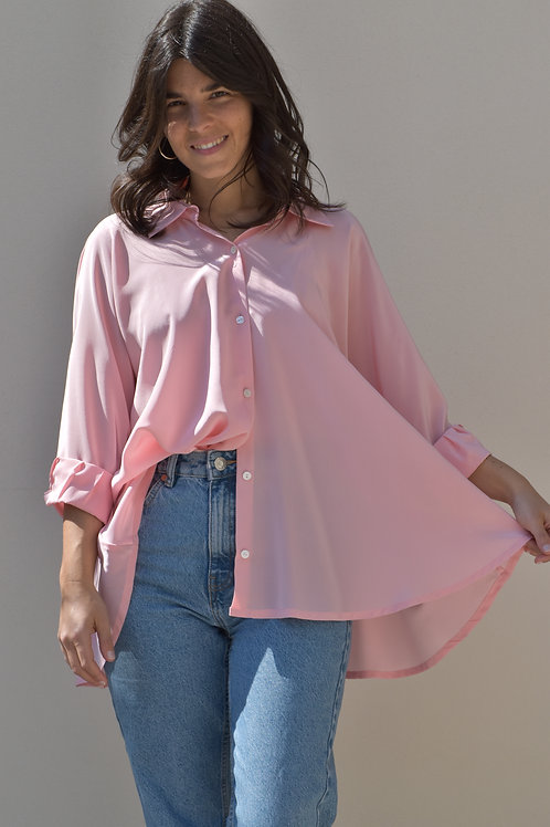 Camicia a ruota rosa