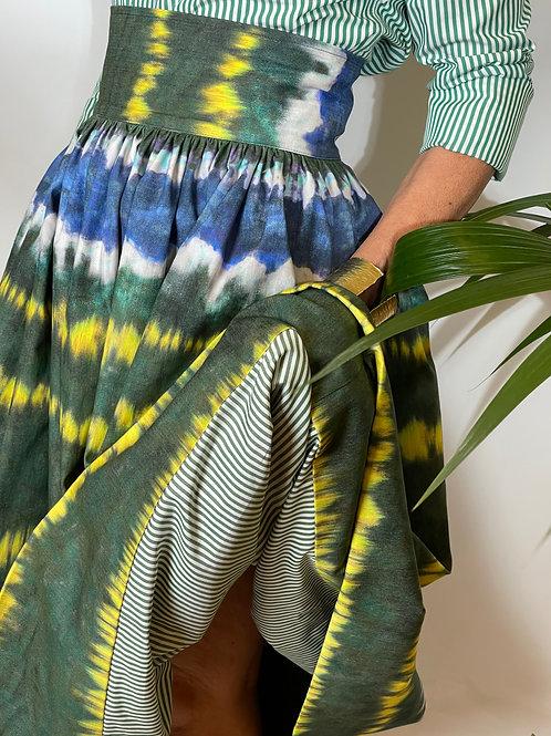 Sophia Skirt Tie&Dye Green