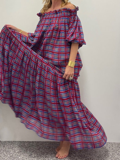 Alma Dress Red Check