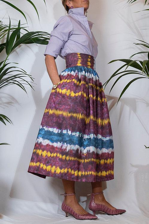 Sophia Skirt Tie&Dye Purple