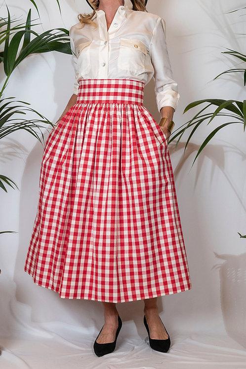 Sophia Skirt Red Vichy