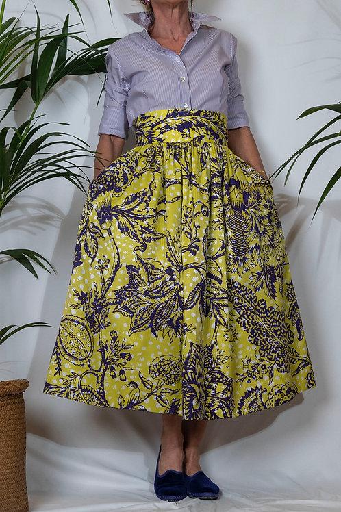 Sophia Skirt Lime and Purple
