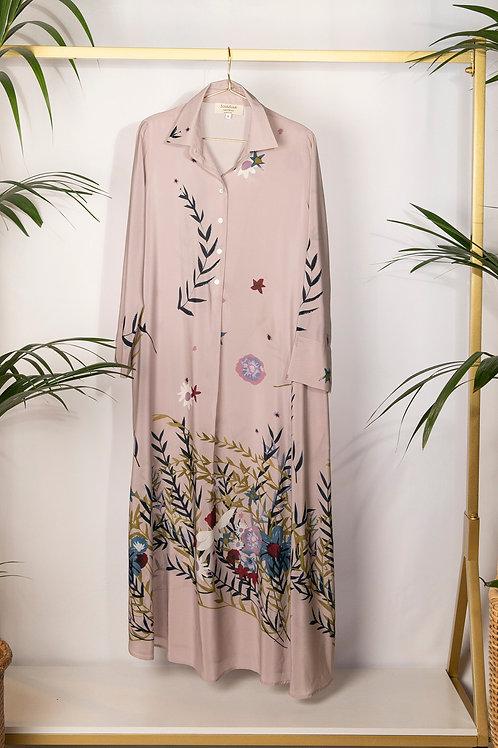 Camicia Dress Flora Pink
