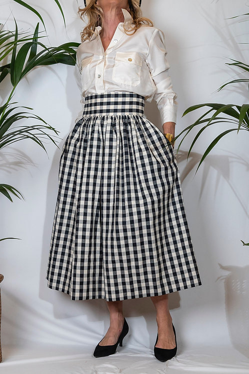 Sophia Skirt Black Vichy