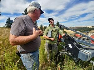 Stephen Johnson Talking with Landowner.j