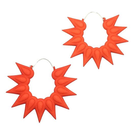 Large tangerine hoops