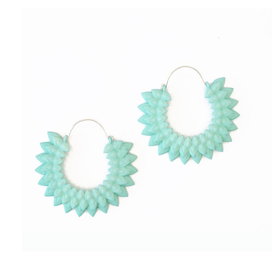 Dahlia earrings - Aqua