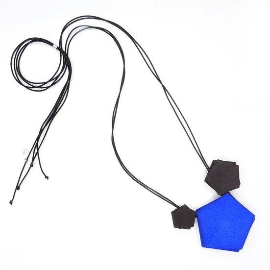 Vertigo 3 element Necklace - blue