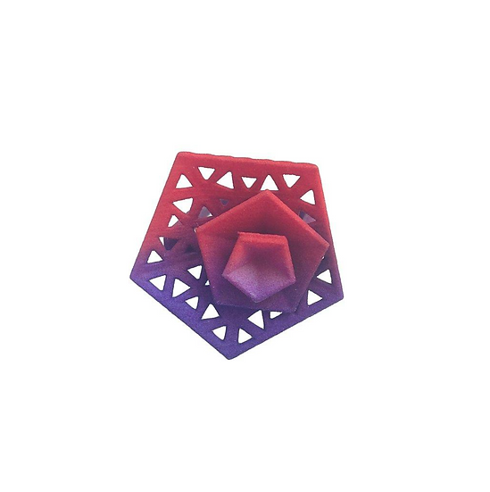 OUTLET - Vertigo ring perforated - Red Purple