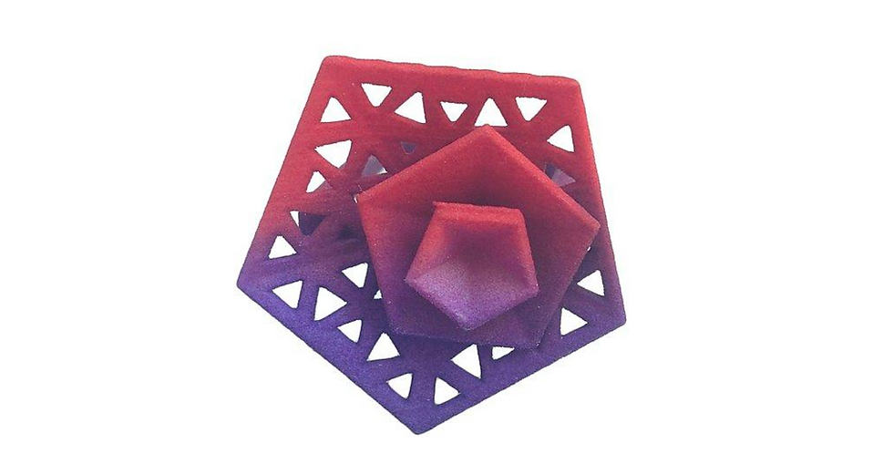 OUTLET - Vertigo ring perforated - Red Purple