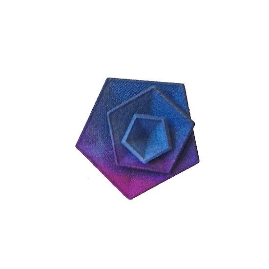 OUTLET - Vertigo ring - Blue Purple