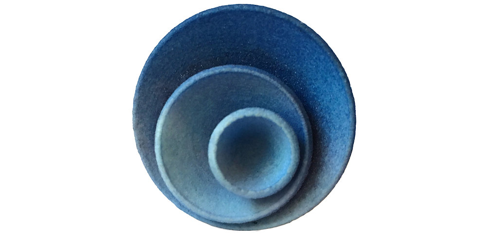 OUTLET - Round ring - Blue