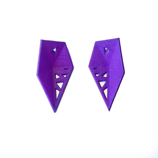 OUTLET Interchangeable earrings - colour replacement - Purple